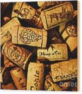 Wine Corks - Art Version Wood Print