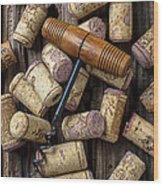 Wine Corks Celebration Wood Print