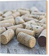 Wine Corks Wood Print