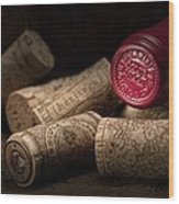 Wine Corks Still Life Iv Wood Print