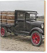 Wine Delivery Truck Wood Print