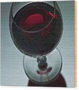 Wine Glass 2 Wood Print