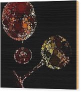 Wine Glasses  Wood Print by Cindy Edwards