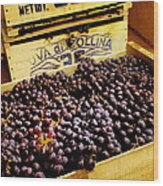 Wine Grapes II Wood Print