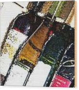 Wine In A Row Wood Print