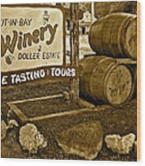 Wine Is Fine Wood Print