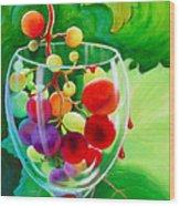 Wine On The Vine IIi Wood Print
