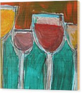 Wine Party 3 Wood Print