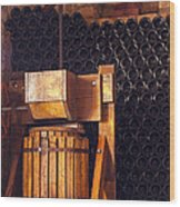 Wine Press Wood Print