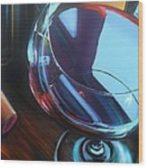 Wine Reflections Wood Print