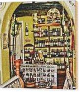 Wine Shop Wood Print