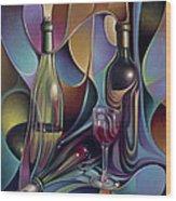 Wine Spirits Wood Print