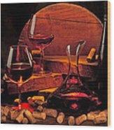 Wine Still Life Wood Print