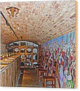 Wine Tasting Room In Castello Di Amorosa In Napa Valley-ca Wood Print