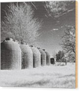 Wine Vats Rutherglen Wood Print
