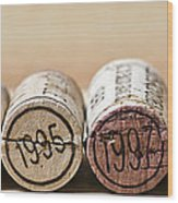 Wine Vintages Wood Print