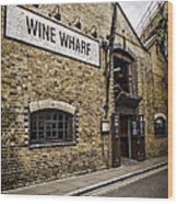 Wine Wharf Wood Print by Heather Applegate