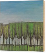 Wineglass Treeline Wood Print