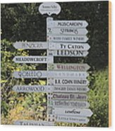 Winery Street Sign In The Sonoma California Wine Country 5d24601 Square Wood Print