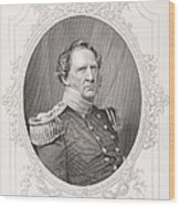 Winfield Scott 1786-1866 From The History Of The United States, Vol. II, By Charles Mackay Wood Print