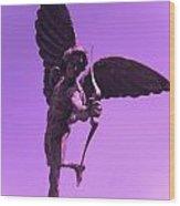 Winged Archer Eros Wood Print