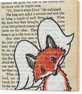 Winged Fox Wood Print