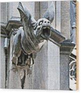Winged Gargoyle Duomo Di Milano Italia Wood Print