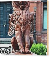 Winged Lion Fountain Wood Print