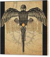 Winged Rider Wood Print
