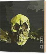 Winged Skull Wood Print