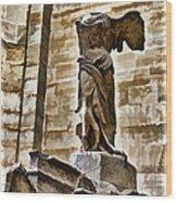 Winged Victory - Louvre Wood Print by Jon Berghoff
