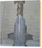 Winged Victory Of Samothrace Wood Print by Karen Maxwell