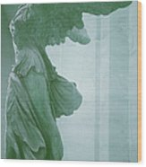 Winged Victory Of Samothrace Statue At The Louvre Museum        Wood Print