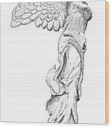 Winged Victory Of Samothrace Wood Print by Steven Tomadakis