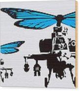 Wingin It - Blue Wood Print