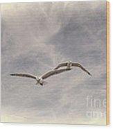 Wingman Wood Print by Joe McCormack Jr