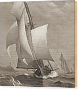 Winning Yacht 1885 Wood Print