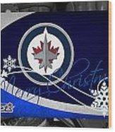 Winnipeg Jets Christmas Wood Print