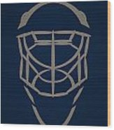 Winnipeg Jets Goalie Mask Wood Print