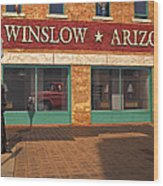 Winslow Arizona Wood Print