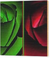 Winsome Roses Pair Wood Print