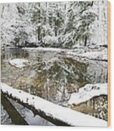 Winter Along Cranberry River Wood Print by Thomas R Fletcher