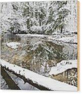 Winter Along Cranberry River Wood Print