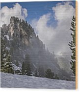 Penken Tyrol Alps Winter Landscape Photography Wood Print