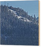 Winter And Mt Baldy Panorama Wood Print