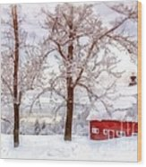 Winter Arrives Watercolor Wood Print