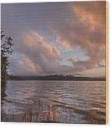 Winter At Big Lagoon Wood Print