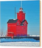 Winter At Big Red Wood Print