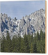 Winter At Castle Crags Wood Print