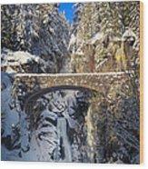 Winter At Christine Falls Wood Print